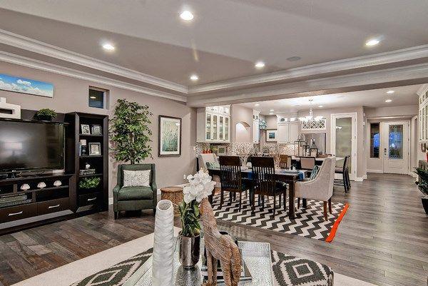 Room Grey Hardwood Floors Living