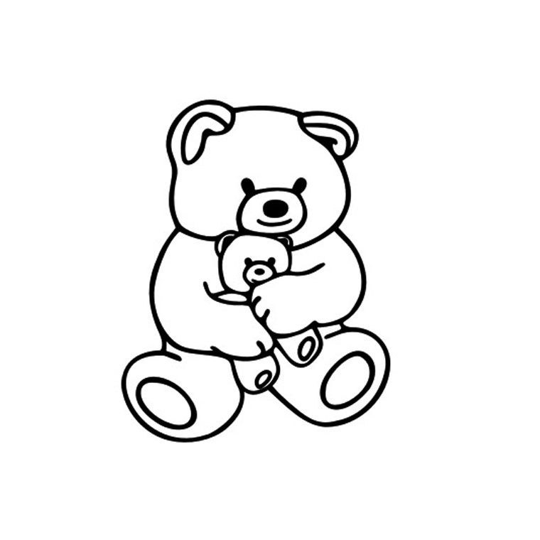 Coloriage ourson a imprimer gratuit printable scrap - Ourson dessin ...