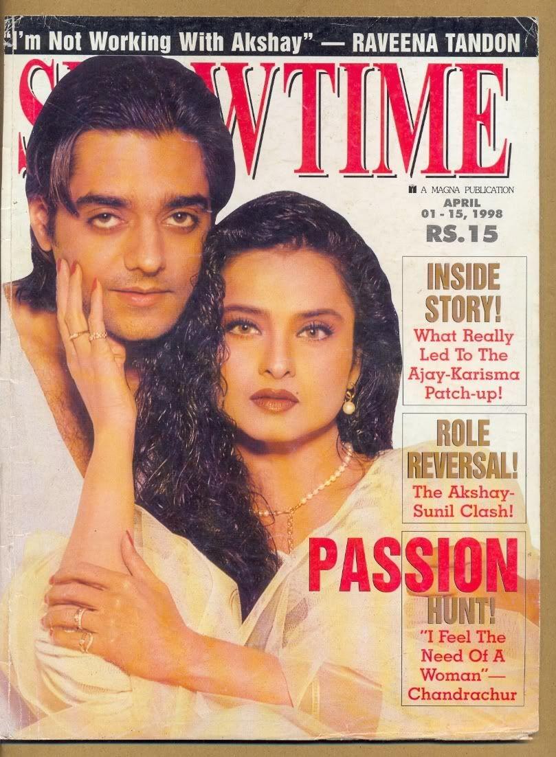 Rekha: Showtime | Showtime, Role reversal, Magazine cover