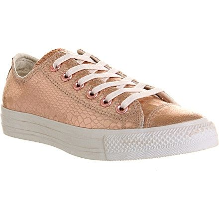CONVERSE All Star metallic snake low-top trainers (Rose ...