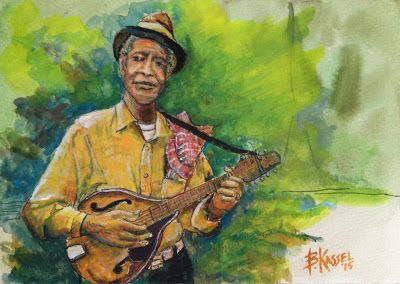 Bill Kassel Fine Art Studio: Finished KC Ulmer...a great Mississippi Delta Blue...