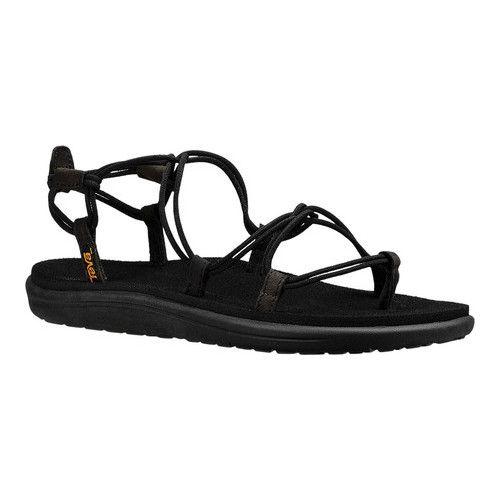 dfe86a0b7531 Women s Teva Voya Infinity Strappy Sandal - Black Textile Sandals