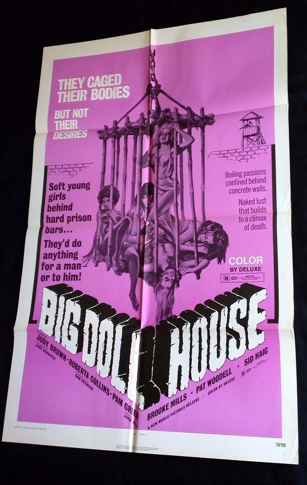 BIG DOLL HOUSE 1971 Movie Poster 27x41 #MoviePoster #PamGrier #Blaxploitation #Grindhouse #Exploitation #RogerCorman