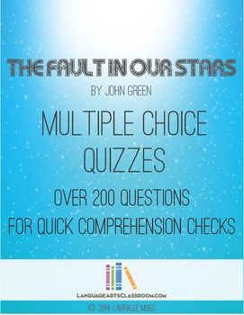 The Fault In Our Stars Multiple Choice Questions | ***Home