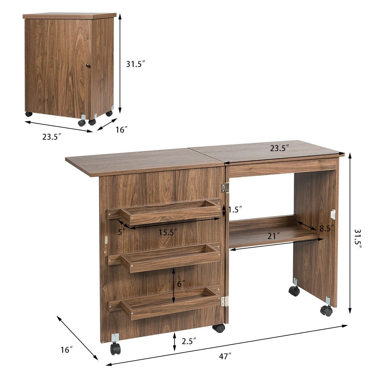 34+ Large craft table with storage information