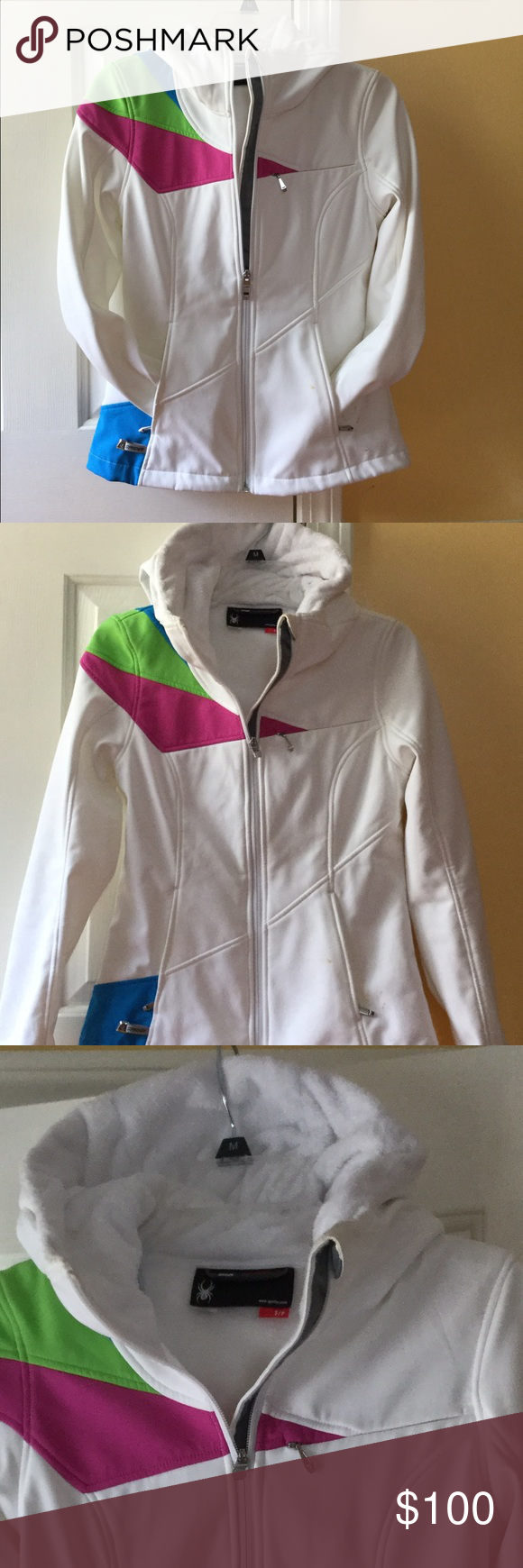 S colorblock ski jacket s style hoods and fur