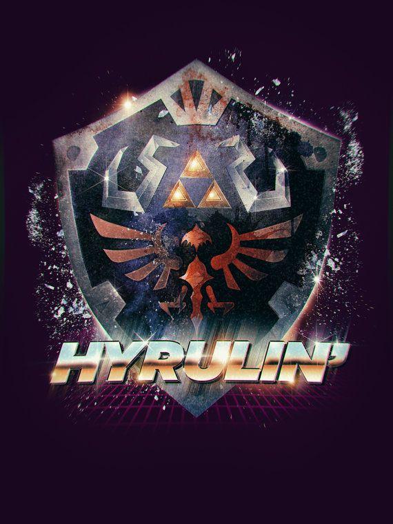 Legend of Zelda Hyrulin' Epic 80's Retro Poster by barrettbiggers, $10.00