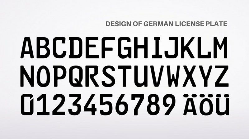 Germany License Plate Font Security Fonts Number Plate Design