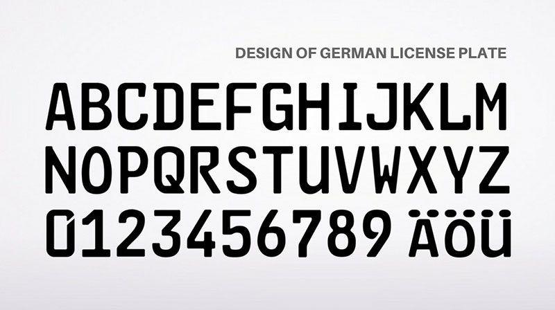 Germany License Plate Font Security Fonts Number Plate Design