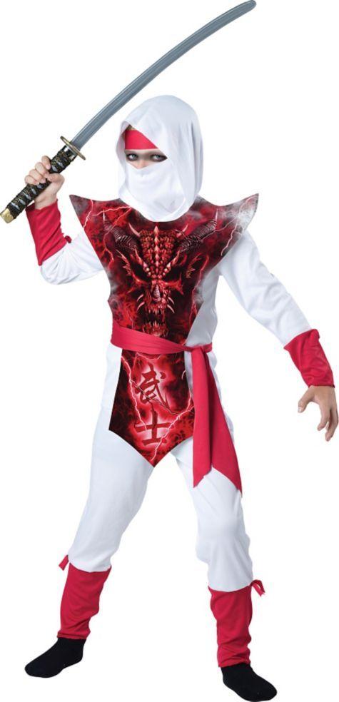 Boys Ghost Ninja Costume - Party City | Halloween Decorations ...