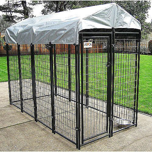 8 Backyard Ideas To Delight Your Dog: ASPCA Premium Dog Kennel 4 X 8 X 6 - Walmart.com