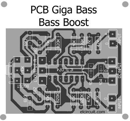 Giga Bass for Bass Boost Circuit - PCB | Pinterest | Circuits, Bass ...