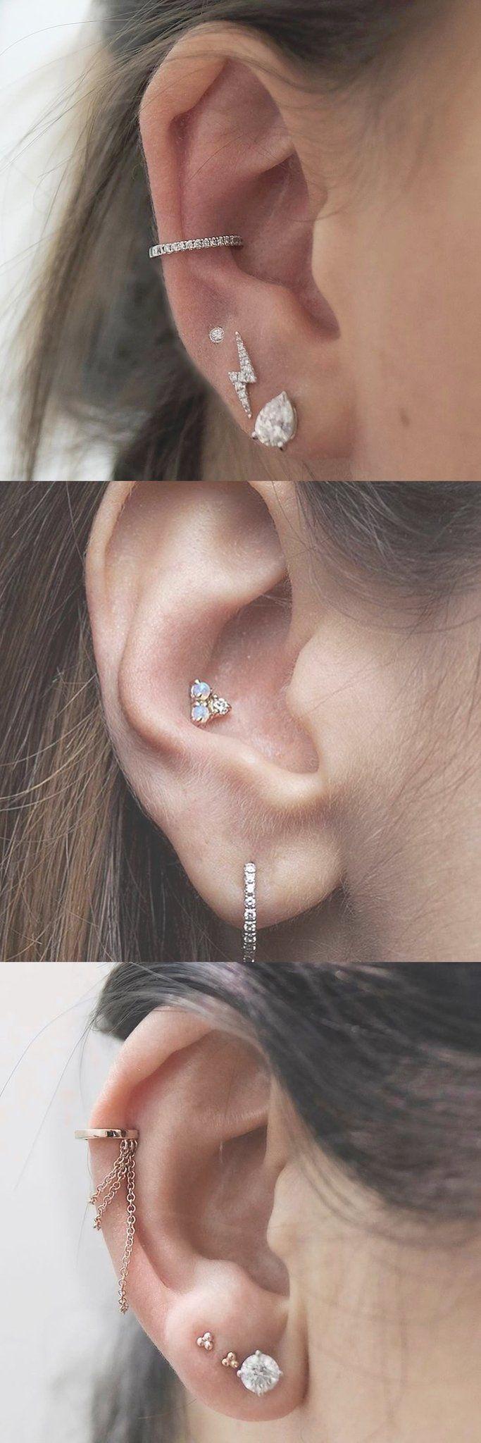 Ear piercing ideas simple   Free Ear Piercing Ideas  Ear piercings Chain earrings and Piercings