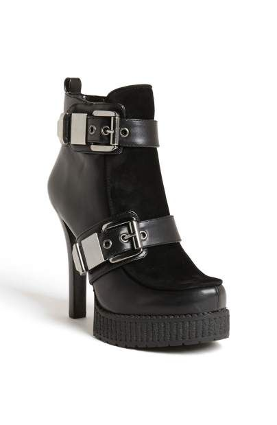 66cdc674408 BCBGeneration  Warner  punk-rock inspired boot with bold buckle straps