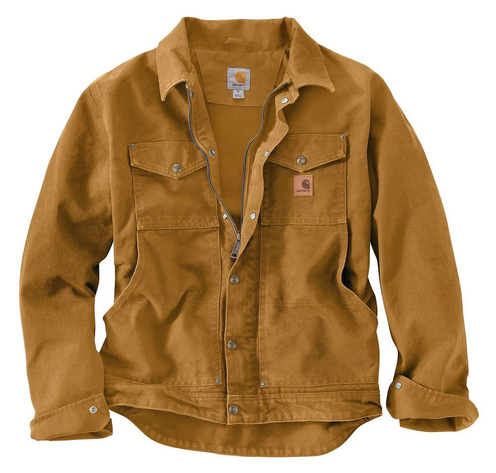 Carhartt Berwick Sandstone Work Jacket, Brown | Mens jackets, Work jackets,  Mens outfits