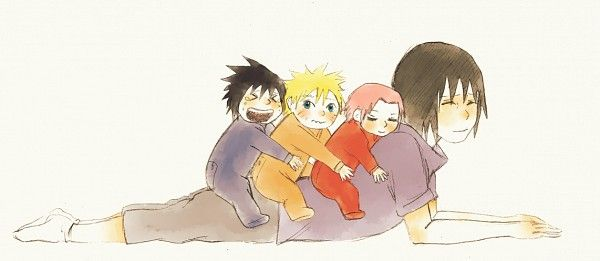 Baby team 7 on Itachi So KAWAII! | Naruto stuff | Anime