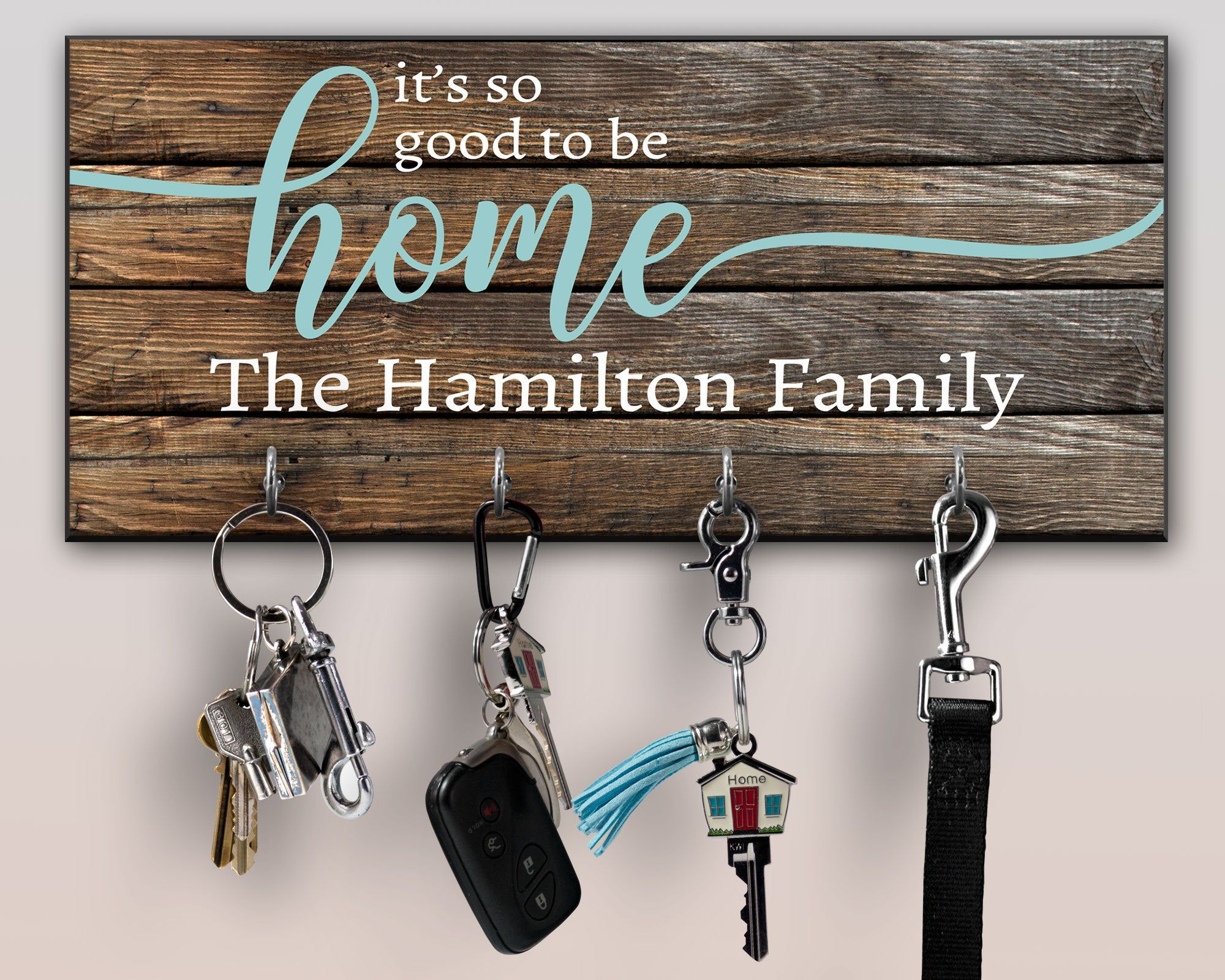 Personalized Key Ring Holder Family Key Holder Home Key Rack