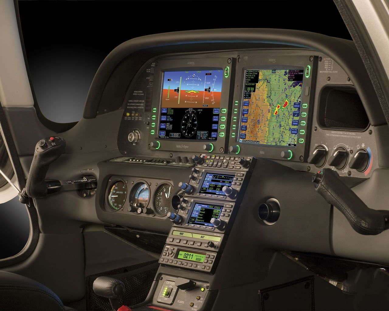 Interieur Sr20 Airplane Pilot Flight Simulator Cockpit