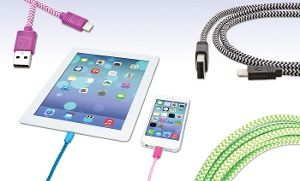 Groupon - Aduro Apple-Certified Sync and Charge Fiber Cloth 3-Ft., 6-Ft., or 10-Ft. Lightning-to-USB Cables in [missing {{location}} value]. Groupon deal price: $9.99