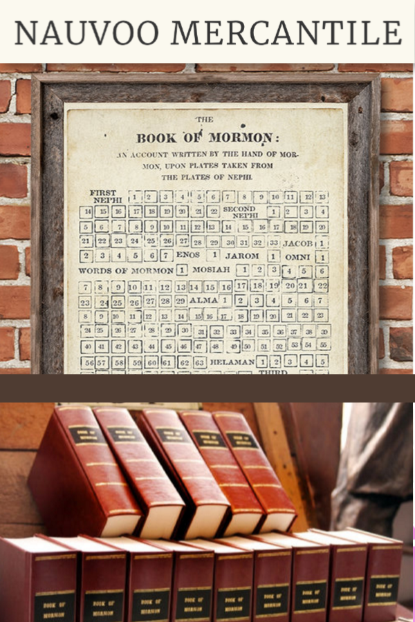 Book Of Mormon First Edition 1830 Replica Reading Chart Book Of Mormon Lds Mormon Mormon