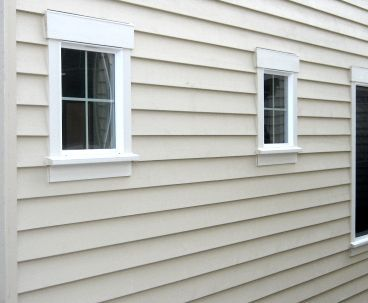 Pre Primed Pre Painted Wood Siding And Trim Window Trim Exterior White Windows Wood Siding