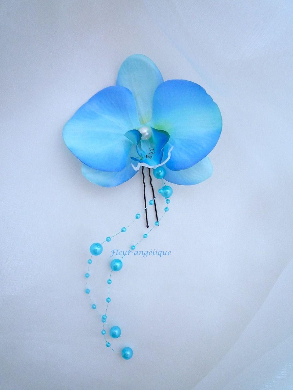 peignes cheveux orchid e rose blanc pour mariage ou c r monie r f peigne007 coiffures. Black Bedroom Furniture Sets. Home Design Ideas