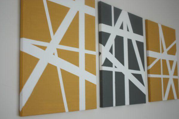 geometrisch linien diy moderne Leinwandbilder   Deko   Pinterest ...
