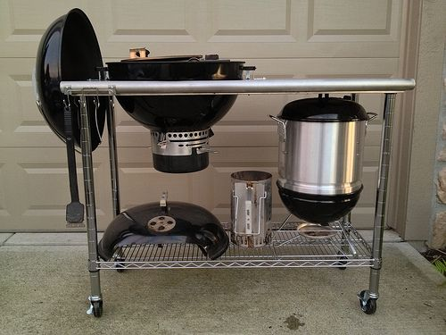 115 Weber Kettle Cart Page 2 The Bbq Brethren Forums Grill