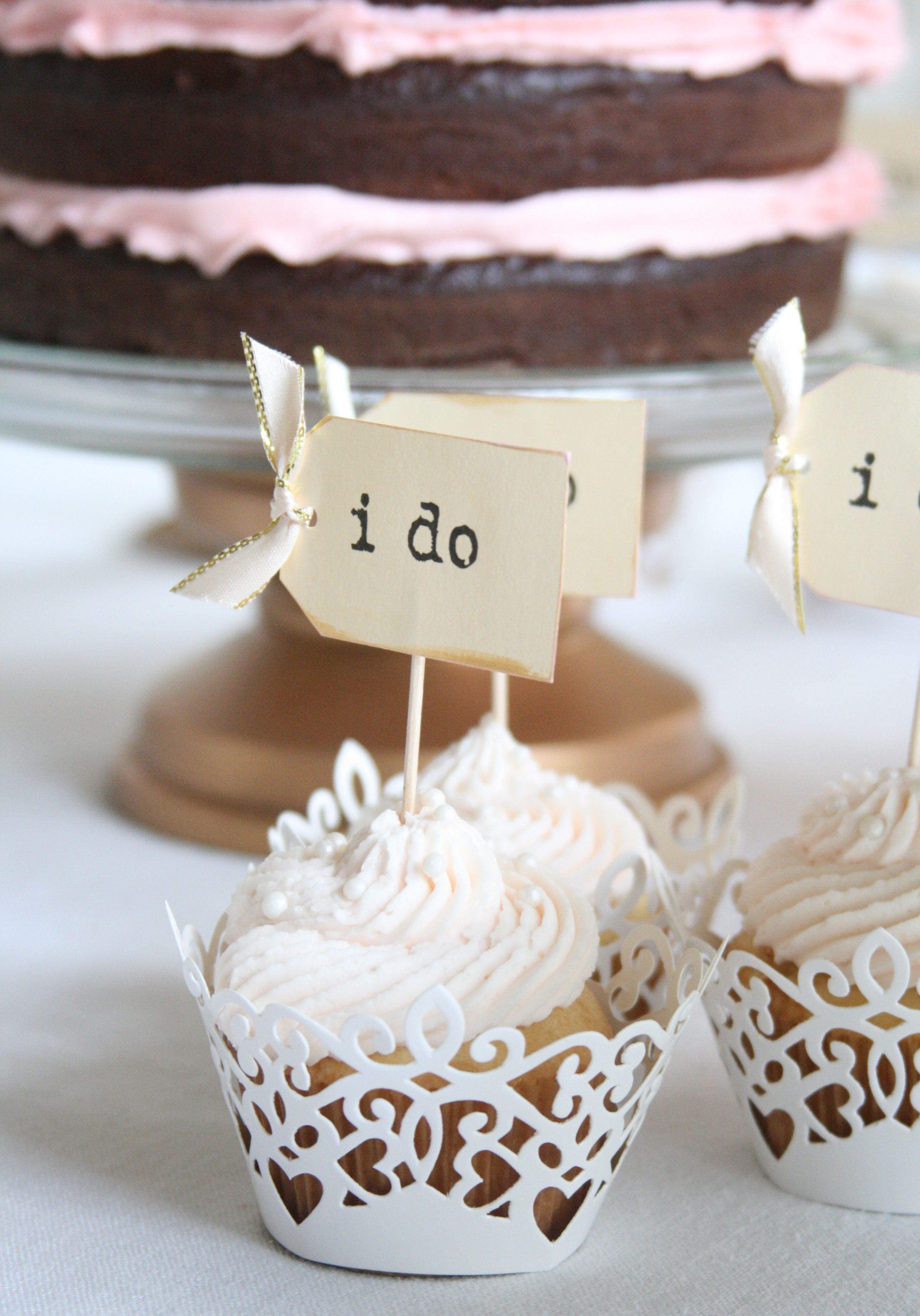 I Do Cupcakes | Pink and Gold Bridal Shower | Pinterest | Gold ...