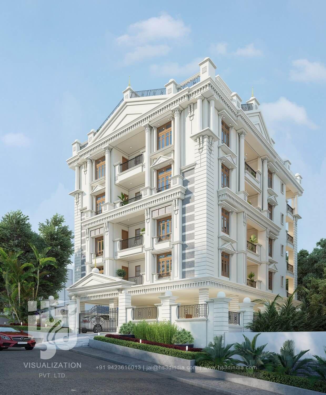 Hs3d Visualization Pvt Ltd Classic House Exterior Classic House Design House Outside Design