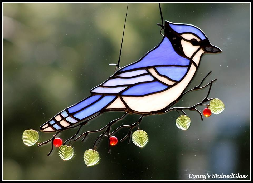 Blue Jay Bird /& Flowers With Branches DIY Stencil