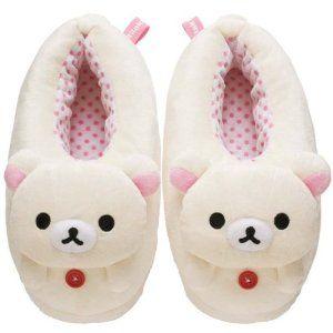 Korilakkuma Cute Plush Slipper - 9.5 in. (Women M Size) KY01701