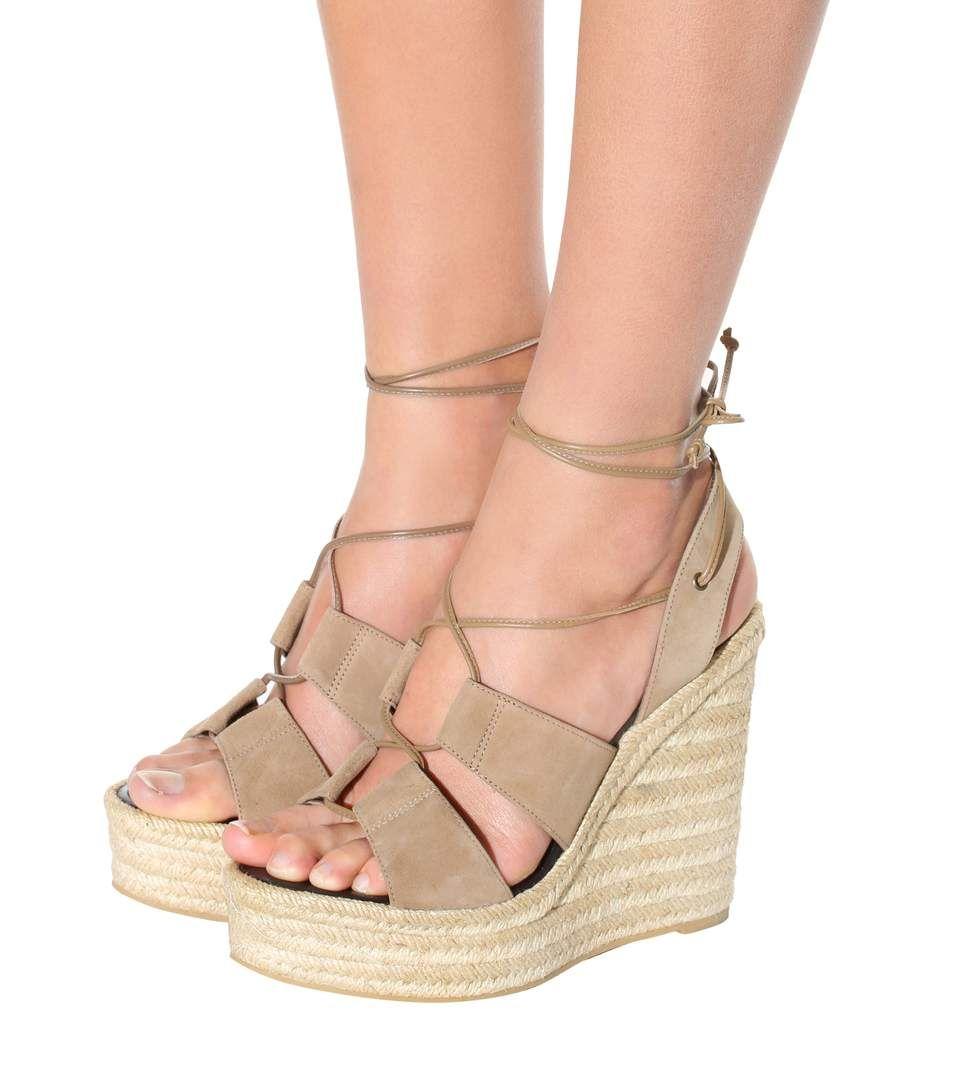5329cdf5ecf Espadrille 95 light tan suede espadrille wedge sandals