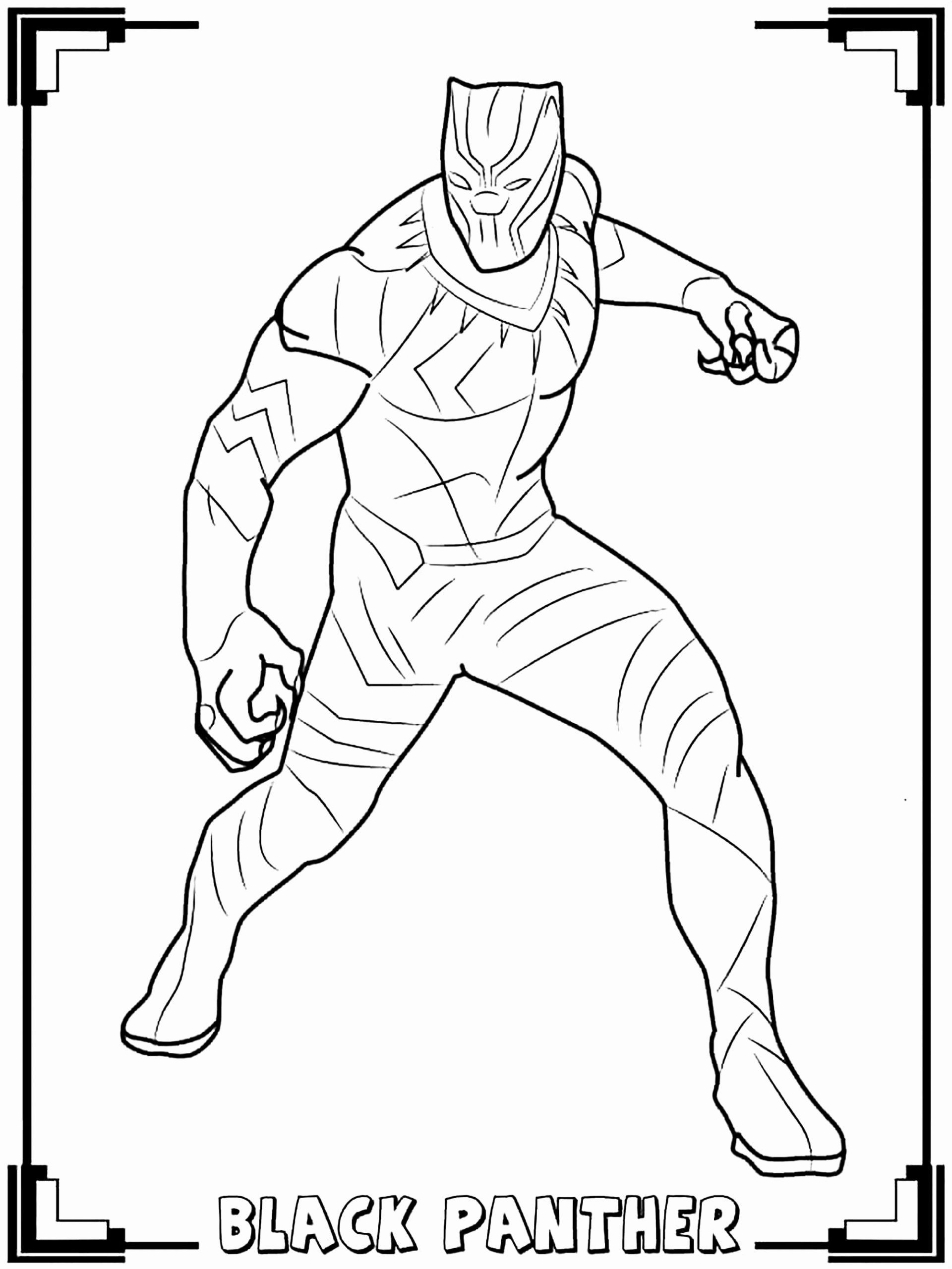 Black Coloring Books Awesome Black Panther Black Panther
