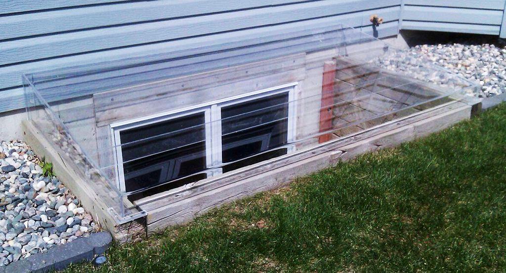Acrylic egress window well cover timber egress frame
