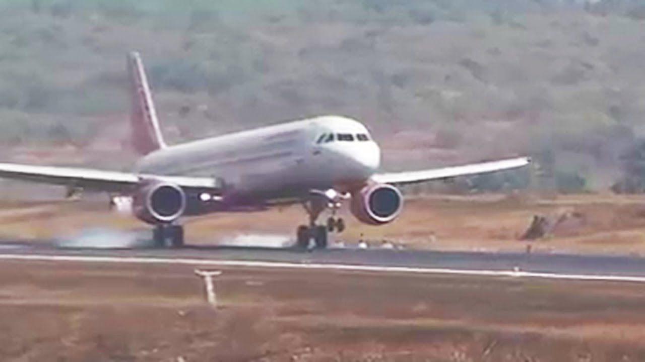 Airbus Camera Shot From Aeroplane Takeoff Landing Travel Journey