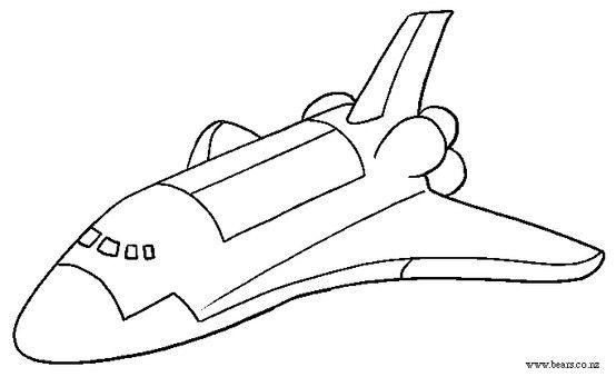 Ausmalbild Space Shuttle