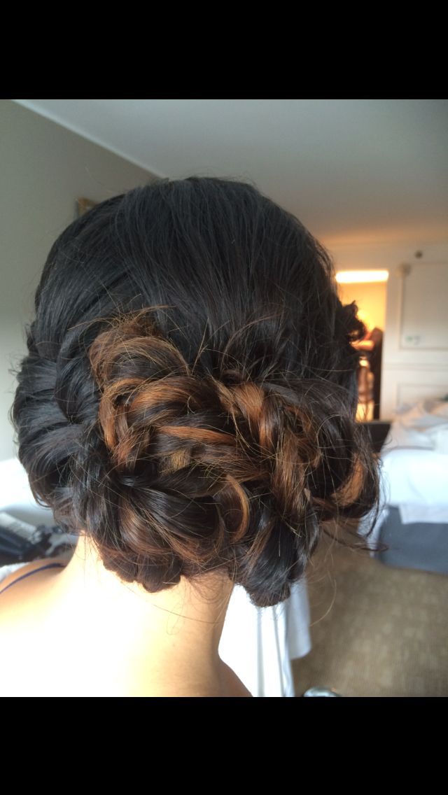Fishtail-braid low bun...   Follow on me IG hairstylesbymarcelle  for more beautiful hair styles and ideas.