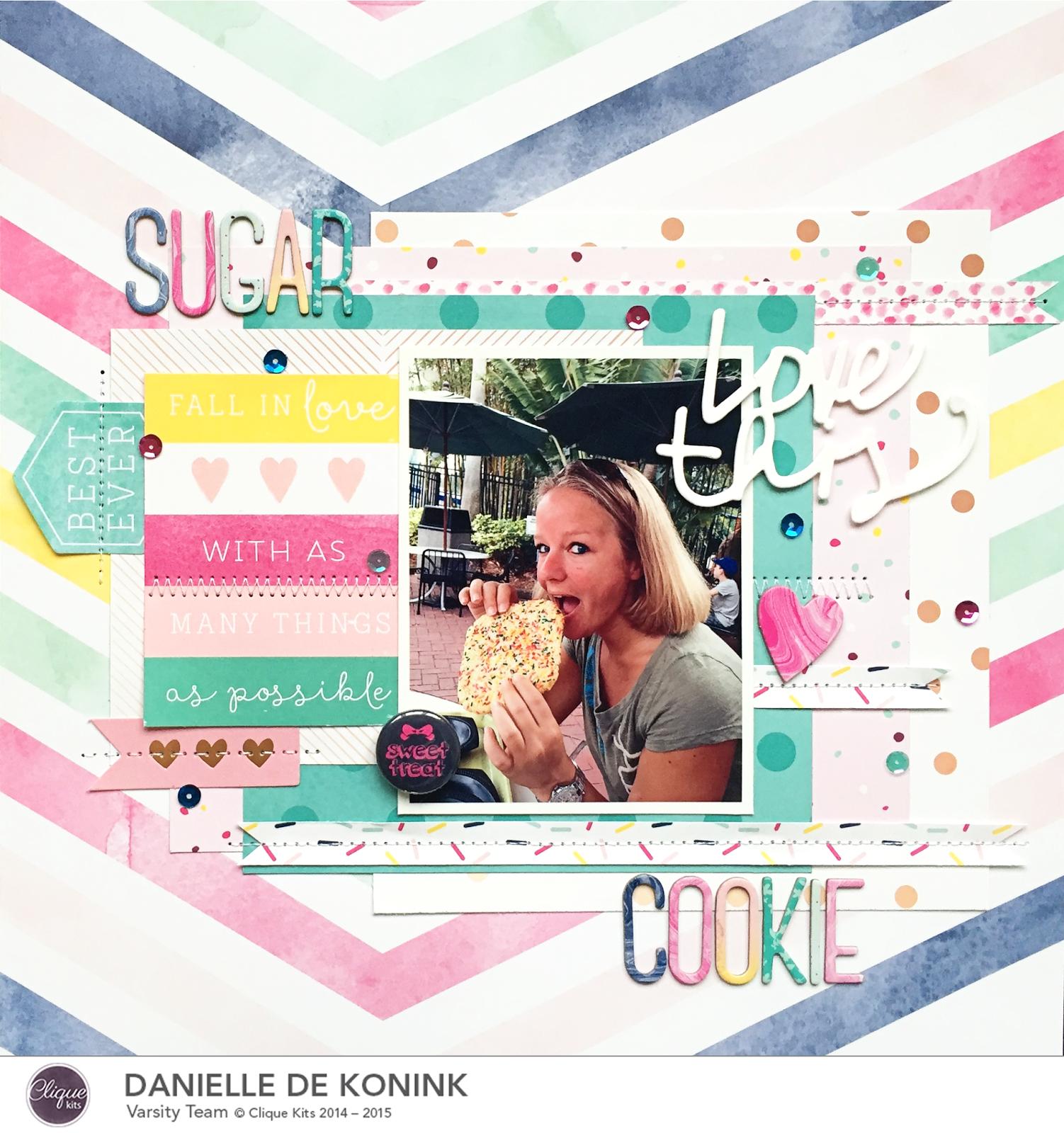 Danielle de Konink for Clique Kits - Dear Lizzy Serendipity ...