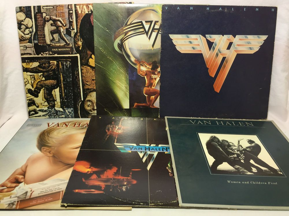 Van Halen Vinyl Record Lot of 6 Record Albums - S/T, II, 1984, 5150, Women, etc.