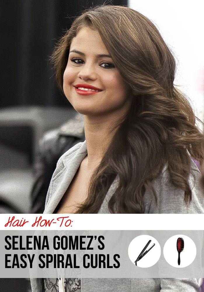 Selena Gomezs Easy Spiral Curls Hair How To Beauty Pinterest