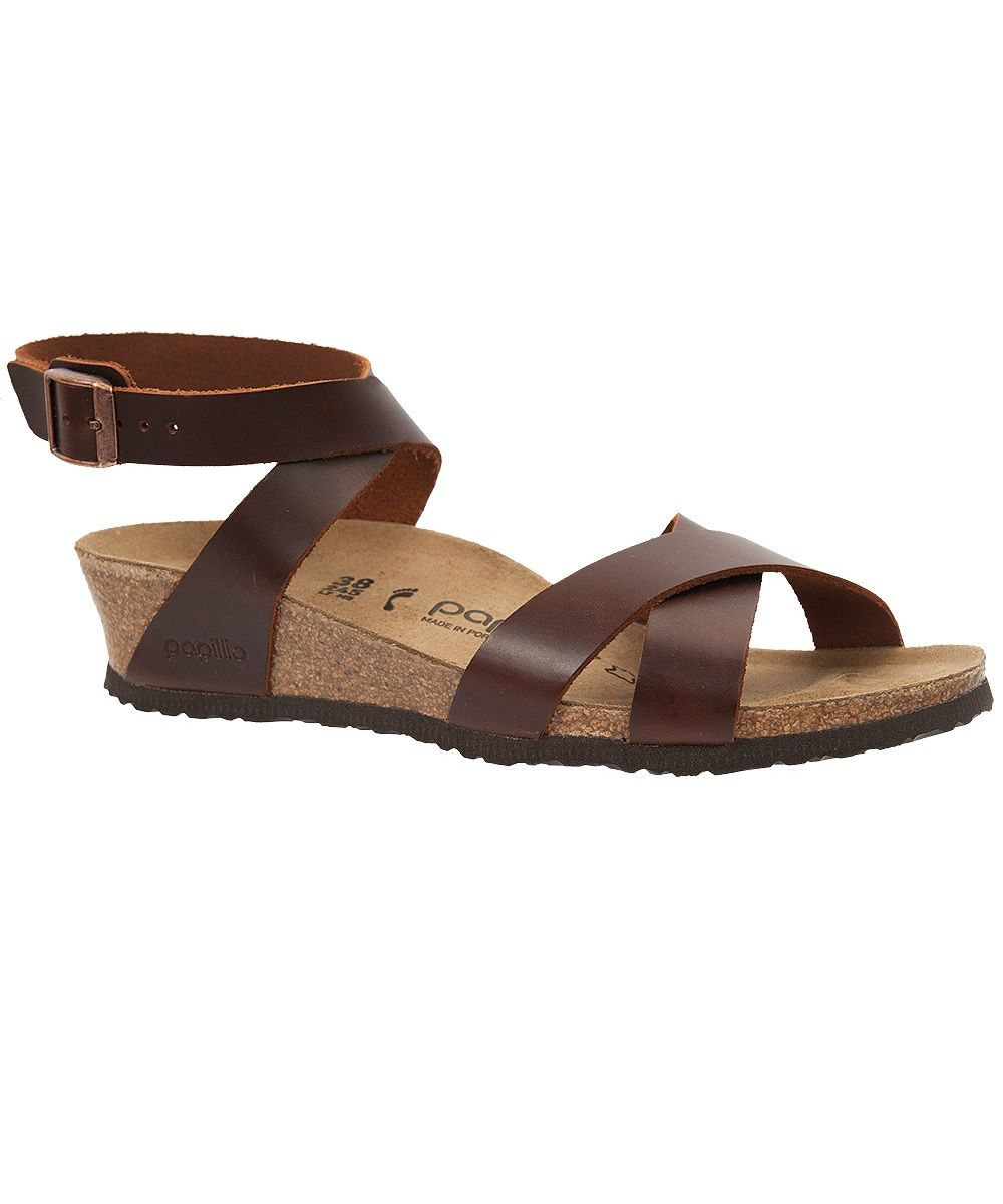 sold worldwide differently the cheapest Papillio Lola - Leather Sandals Cognac | Ankle wrap sandals ...