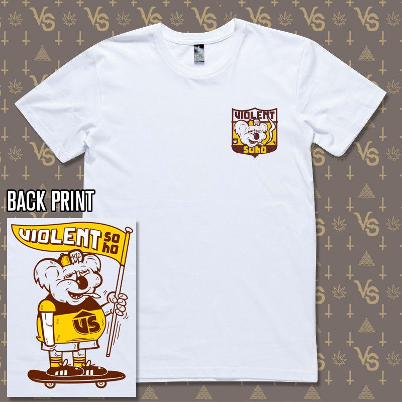 900baeea3 Brisbane Bears (White Tee) | Merch, shirts, & band stuff | White ...