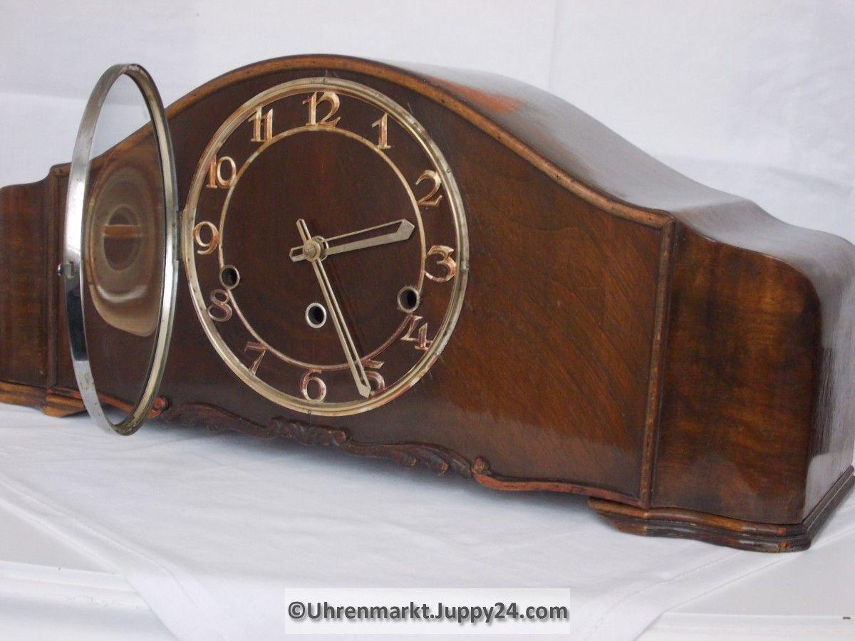 Schrankuhr Kaminuhr Tischuhr Mit 4 4 Westminsterschlag Lauffer Kaminuhren Tischuhr Vintage Uhren