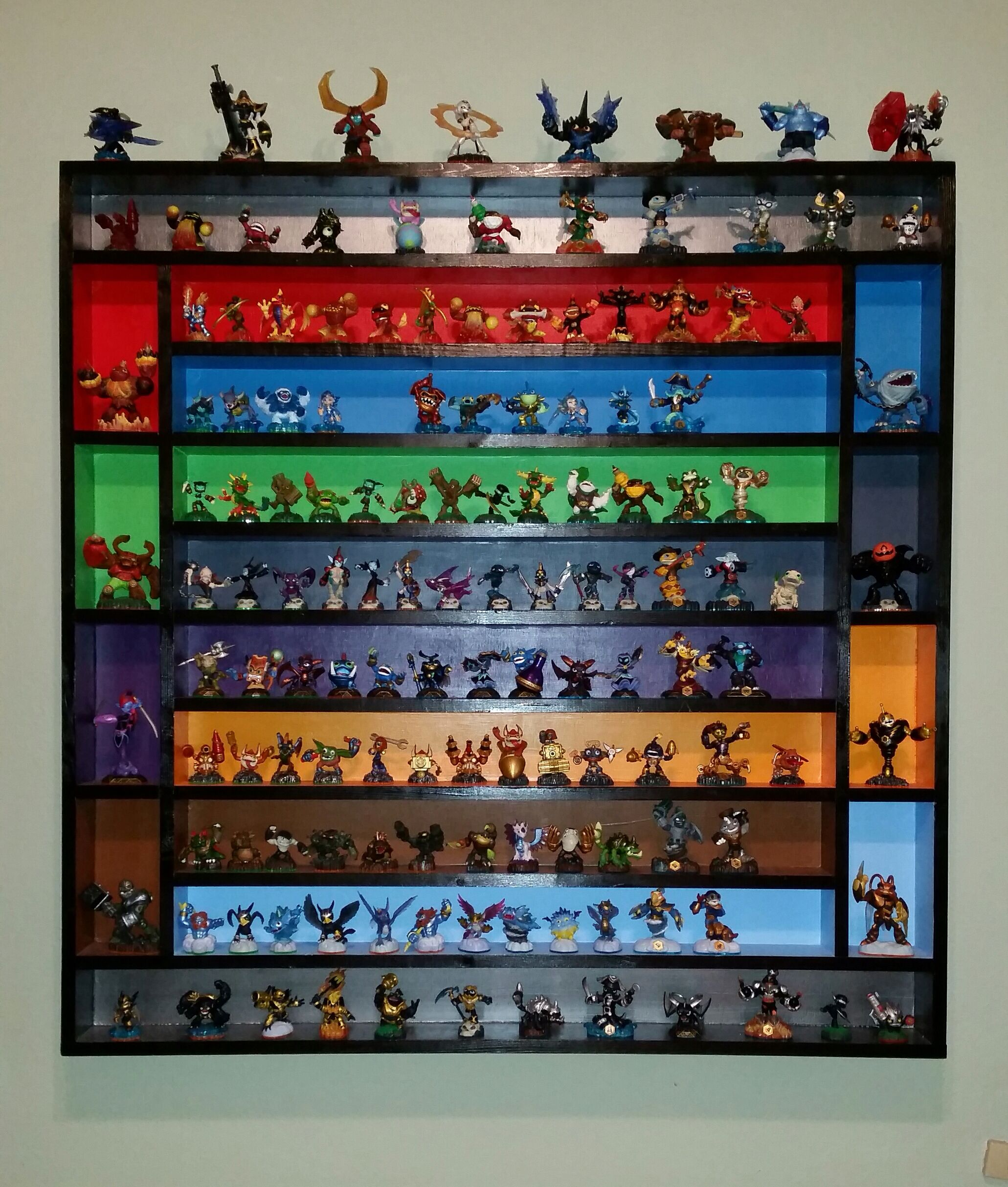 Updated: Coolest Skylanders Shelf... Ever! Built one year ago for the kids and we're running out of room. Yikes!
