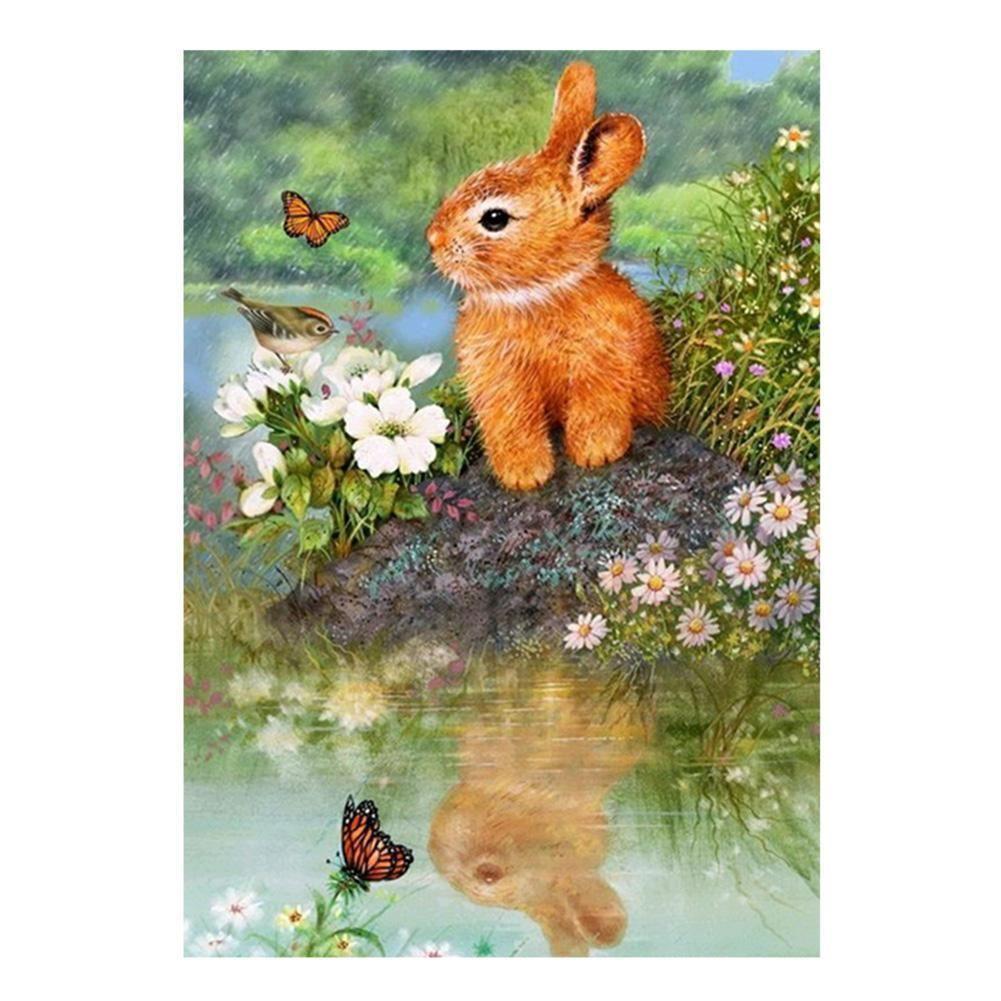 Squirrel DIY 5D Diamond Painting Embroidery Rabbit Cross Stitch Home Decor Craft