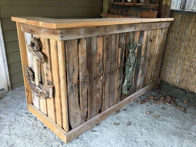 Backyard Tiki Bar, Diy, Outdoor Furniture, Outdoor Living