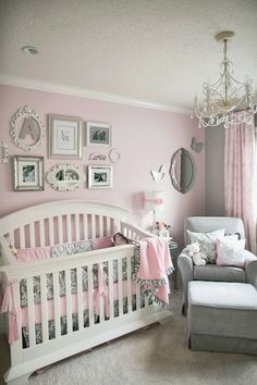 Pink And Grey Gray Owl Tree Wall Mural Decal For Baby Girl Nursery Or  Childrenu0027s Room