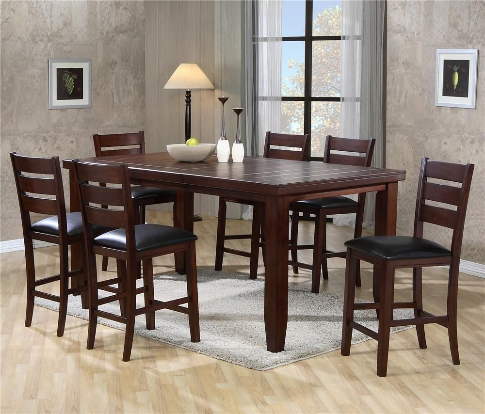 Bardstown Rectangular Counter Height Table Set by Crown Mark | Home ...