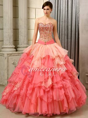 girls prom poofy ruffled corset organza floor length